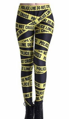 Police Tape Leggings – SEKclothing