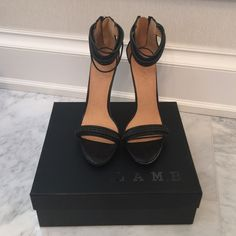 NEW LAMB Black Pumps Sandals Heels 9 Kanye Beautiful shoes! Brand new. Never worn. Comes with the box and tissue. Size 9. L.A.M.B. Shoes Heels