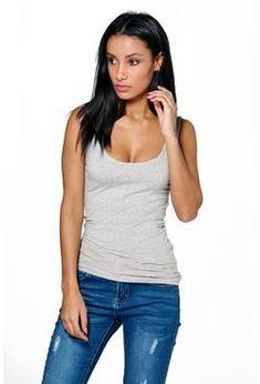 Ellie Wide Strap Basic Vest