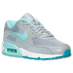 Women's Nike Air Max 90 Essential Running Shoes - 616730 011   Finish Line   I love that Tiffany Blue!