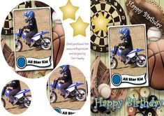A pyramid Birthday card for any child that& into motor bikes, or that loves sports. very easy to make. Boy Birthday, Birthday Cards, Happy Birthday, Card Making, Greeting Cards, Basket, Make It Yourself, Toys, Children