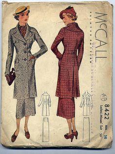 McCall 8422 | 1930s Ladies' & Misses' Suit