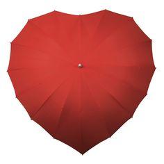 eu.Fab.com | Heart Umbrella Red
