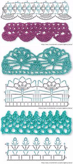 ผลการค้นหารูปภาพสำหรับ Простой узор крючком. Plain pattern crochet