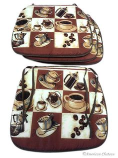 Add To Your Coffee Kitchen Theme With These Awesome Coffee Cushions Set Of 4 18 99