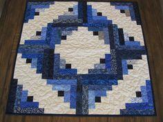 Cabaña azul acolchada mesa cumpleaños por Quiltedhearts5 en Etsy