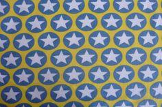Stretch Sweat Maxi Stars jeansblau gelb von PinkPeppa auf DaWanda.com