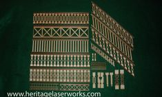 We have several styles of laser cut doll house railings and balusters to suit your miniature building needs. We have premade kits and individual uncut balusters to choose from. Very nice decorative gingerbread trim for your dollhouse.