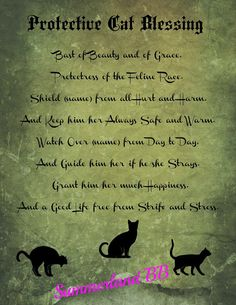 Cat Familiar Blessing Spell Digital Download Book of Shadows Pages - Wiccan - Witch - Spells - BOS - Familiar Spell Ritual Blessing