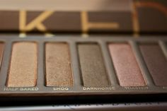 urban decay naked palette. perfect for redheads as it's a collection of warm neutral shadows that compliment fair skin and give subtle color and depth without being too dramatic.