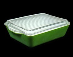 Vintage Green Pyrex Oven Refrigerator Dish Model 0503