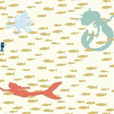 Nager la leçon de tricot Interlock biologique au-delà de la mer Birch Fabrics - vendeur britannique - vendu par le demi-mètre