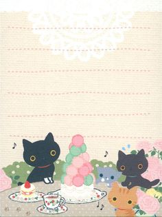 kawaii Kutusita Nyanko mini Memo Pad cat cake 3