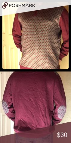 fe46cb381b01 Maroon quarter zip sweater. Very nice sweater. With a beautiful design on  the front