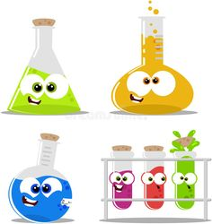 Science chemical flasks and beakers. Cartoon science chemical flasks and beakers , Science Week, Science Party, Preschool Science, Science Fair, Science Activities, Science Classroom Decorations, School Decorations, School Themes, Mad Scientist Party
