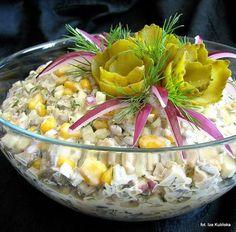 Sałatka pieczarkowa Veggie Recipes, Salad Recipes, Cooking Recipes, Appetizer Salads, Appetizer Recipes, Healthy Recepies, Polish Recipes, Polish Food, Soul Food