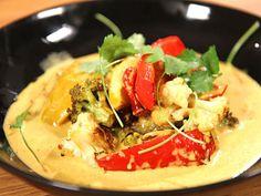 Vegetarisk currygryta med paprika