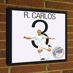 Square Canvas Wrap Soccer Art Print Roberto Carlos Canvas Print - Real Madrid Soccer Poster wall decor home decor, Roberto Carlos poster by Graphics17 on Etsy
