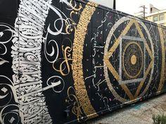 "699 Me gusta, 6 comentarios - THE CONTAINER YARD (@thecontaineryard) en Instagram: ""#wip @tarekbenaoum /// @thecontaineryard #dtla #artsdistrictla #urbanart #streetart #calligraphy…"""