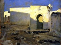"""Moorish Buildings in Sunlight"", 1880, John Singer Sargent #moorish #SingerSargent"