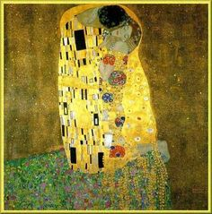 Gustave Klimt, The Kiss. 1907.