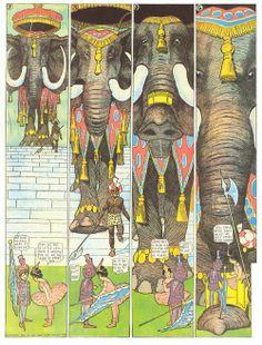 Little Nemo de Winsor McCay, 1905 Vintage Cartoon, Vintage Comics, Illustrations, Illustration Art, Little Nemo In Slumberland, Comic Book Layout, Bd Comics, Classic Comics, Animation Film