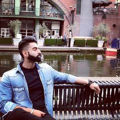 Parmish Verma Beard, Punjabi Models, Rapper Art, Punjabi Couple, Beard Styles For Men, Actor Model, Celebs, Celebrities, Best Actor