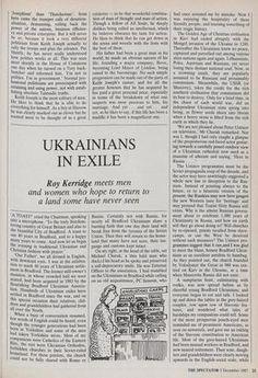 UKRAINIANS IN EXILE » 5 Dec 1987 » The Spectator Archive