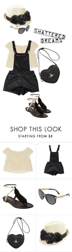 """""""Overalls"""" by glamclutz ❤ liked on Polyvore featuring Oscar de la Renta, Visconti & du Réau, Jimmy Choo, Vivienne Westwood, Charlotte Russe, overalls and polyvoreeditorial"""