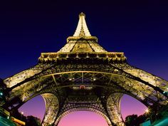 France Eiffel Tower at Sunset