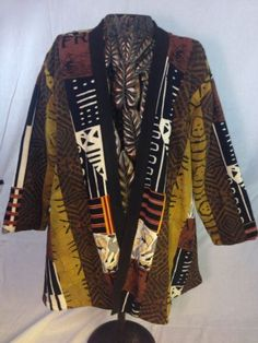 AS'HRO Mudcloth  Leather Coat Lrg Soft  Sexy EC Beautiful!! Just Make An Offer.....Offering Great Deals and Super Low Prices with 100% Positive Feedback Since 2001!!!!!!!!!