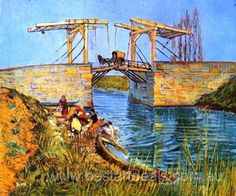 Van Gogh Oil painting reproduction _ The Langlois Bridge at Arles with Women Washing. http://bestartdeals.com.au