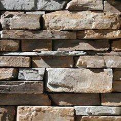 Stone veneer for lower part of house