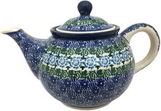 New Polish Pottery 35 CUP TEAPOT Boleslawiec CA Pattern 1798 European Stoneware * Detailed information can be found by clicking on the image