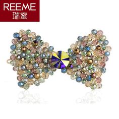 Korean version of the cross-bow barrette clip hairpin top folder sub flowers spring water