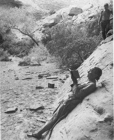 Georgia O'Keefe sketching in Glen Canyon, 1961 Todd Webb