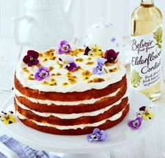 Celebrate the Harvest with Fiona Cairns' Elderflower, Orange & Passion Fruit Layer Cake