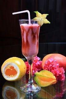 Recheio Mania: Coquetel de frutas sem álcool