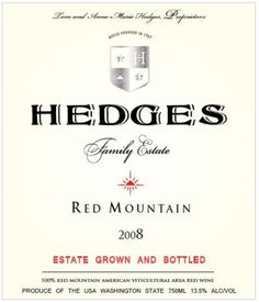 2008 Hedges Family Estate Red Mountain