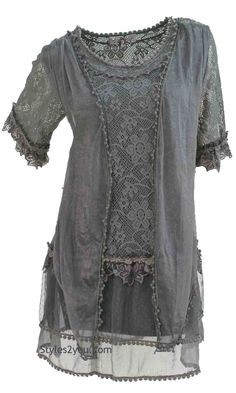 AP Emma Vintage Victorian Blouse In Gray                                                                                                                                                                                 More