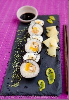 Maki de Moules panées et mangues
