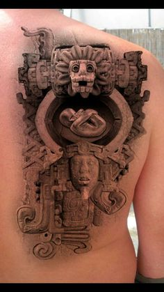 Inca stone tattoo design - The Official Site of Rusvai Roland Chicano Art Tattoos, Body Art Tattoos, Sleeve Tattoos, Cool Tattoos, Tatoos, Awesome Tattoos, Mayan Tattoos, Inca Tattoo, Inca Art