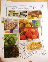 my favourite foods - fm magazine cutouts