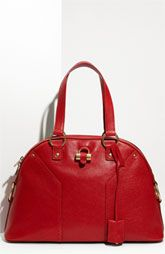 Yves Saint Laurent 'Muse - Large' Leather Dome Satchel
