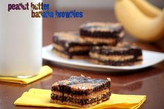 Peanut butter banana brownies.    Could you adapt it to be GF with a GF flour & GF graham crackers?