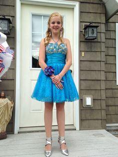 My baby girl on her 8 th grade dance