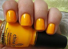 China Glaze Neon Nail Polish for Summer! - Sun Worshiper