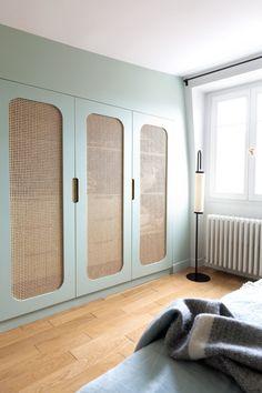 Wardrobe Door Designs, Wardrobe Doors, Closet Designs, Home Room Design, House Design, Home Bedroom, Bedroom Decor, Ideas Armario, Cupboard Design