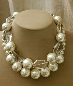 Check out this item in my Etsy shop https://www.etsy.com/ca/listing/257123947/extra-large-multistrand-pearl-necklace