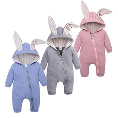 Cute bunny baby jumpsuit is perfect for spring and autumn seasons. It is made of high quality materials and has an adorable design. The perfect baby shower gift. Color Options: Gray, Blue and Pink is available. Suitable sizes available for babies from newborn to 24 months old. Material: Cotton Gender: Unisex Closure Type: Zipper Fit: Fits true to size, take your normal size Baby Outfits Newborn, Baby Boy Outfits, Kids Outfits, Baby Newborn, Cute Kids, Cute Babies, Baby Jumpsuit, Funny Outfits, Cute Baby Clothes